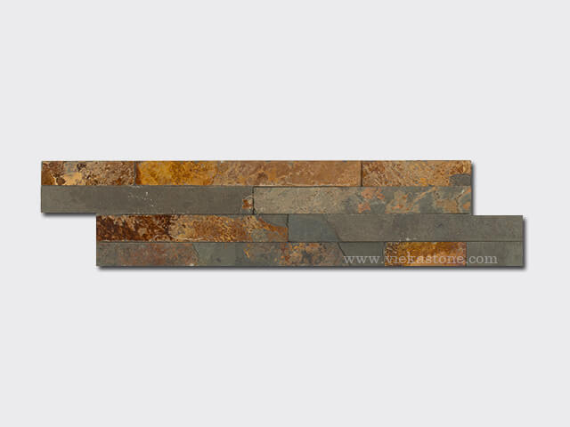 multicolor slate thin stone veneer slim panel 1