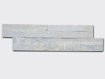 P013 Green Slate Stone Cladding Wall Panels z shape 1