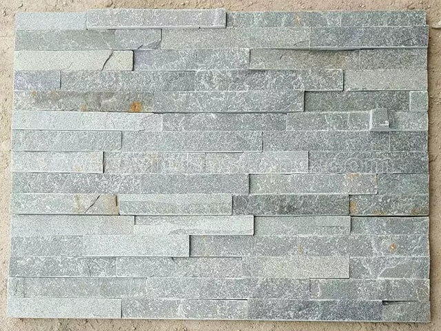 P013 Green Slate Stone Panels Wall Cladding Rectangle Shape 2