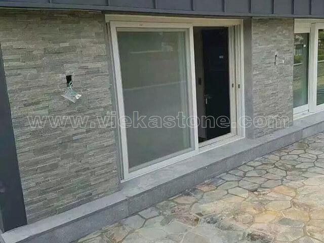 p013 green slate thin stone veneer slim panel 4