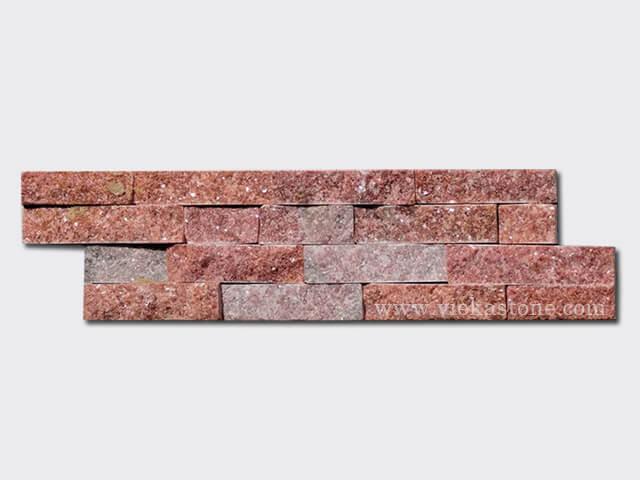 Peach Quartz Stone Cladding Wall Panels z shape 1