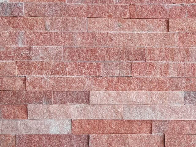 Peach Quartz Stone Panels Wall Cladding Rectangle Shape 4