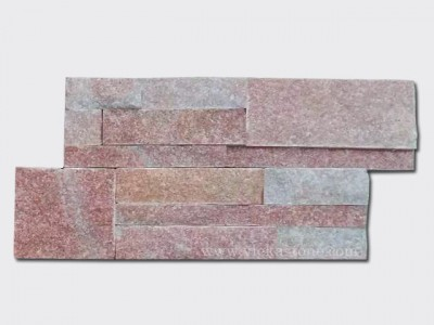 Peach quartz culture stone wall panel 1