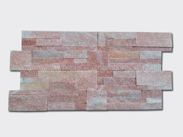 Peach quartz culture stone wall panel 2
