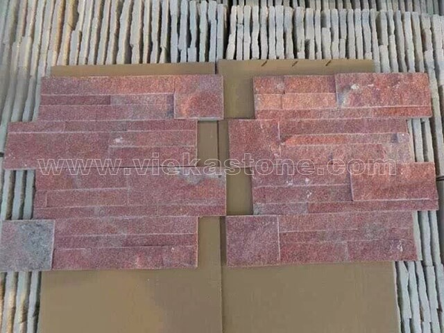 Peach quartz culture stone wall panel 3