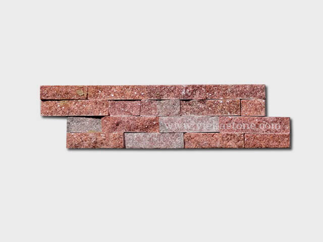 peach quartz thin stone veneer slim panel 1