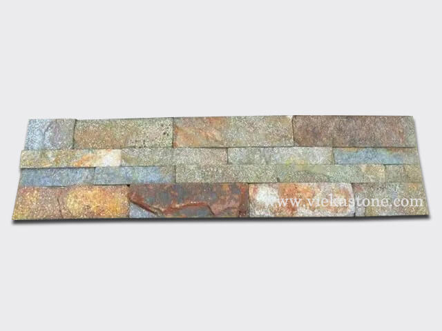Red Rusty Quartz Stone Panels Wall Cladding Rectangle Shape 1