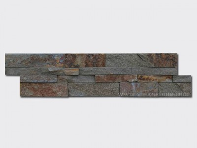 Red rusty quartz Stone Cladding Wall Panels z shape 1