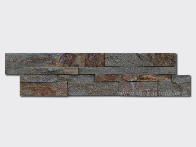 Red rusty quartz Stone Cladding Wall Panels z shape 1