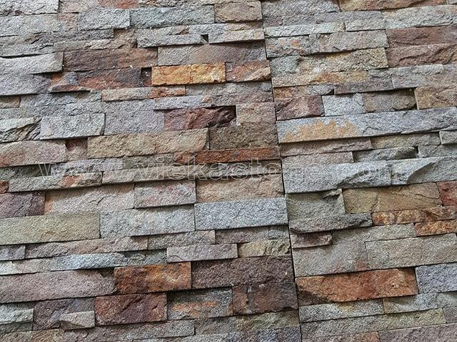 Red rusty quartz Stone Cladding Wall Panels z shape 5