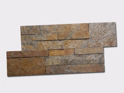 Rustic quartz culture stone wall panel 35x18cm 1