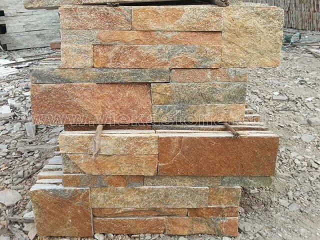 Rustic quartz culture stone wall panel 35x18cm 2