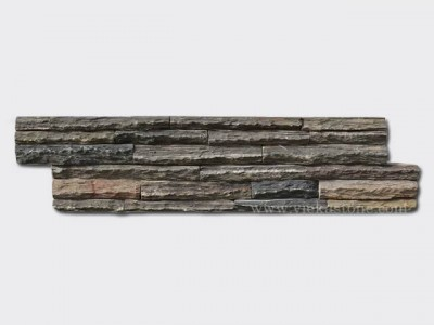 Rustic slate stone cladding wall panels Z shape 1