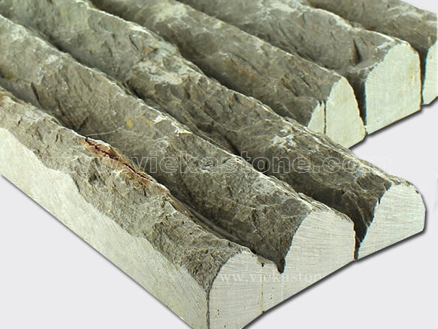 Rustic slate stone cladding wall panels Z shape 2