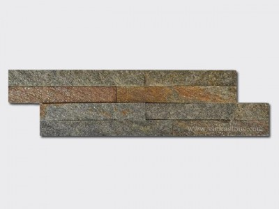 Rusty Quartz Stone Cladding Wall Panels z shape 1