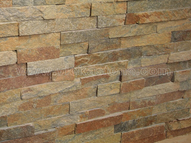 Rusty Quartz Stone Cladding Wall Panels z shape 2