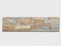 Rusty Quartz Stone Panels Wall Cladding Rectangle Shape 1