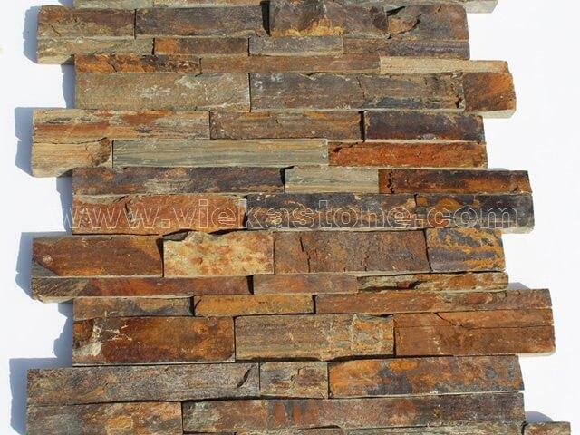 Rusty Slate Brown Ledgestone Veneer LP002-3