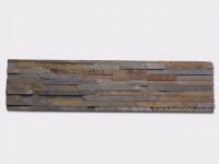 Rusty Slate Stone Panels Wall Cladding 10 line Rectangle Shape