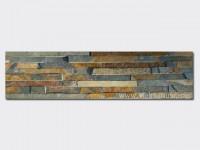 Rusty Slate Stone Panels Wall Cladding 8 line Rectangle Shape 1