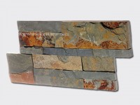 Rusty slate culture stone wall panel 35x18cm 1