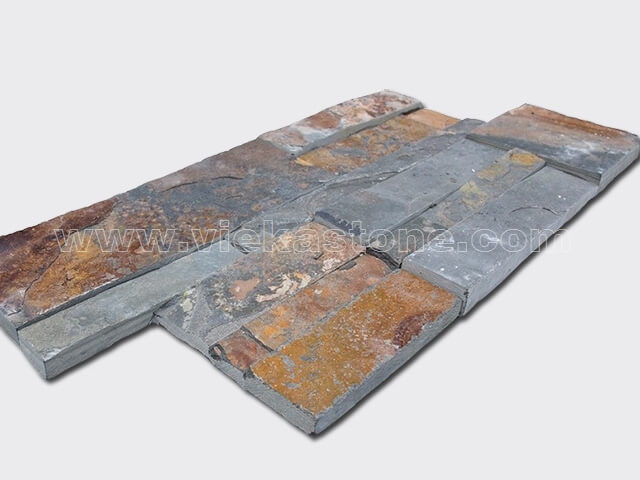 Rusty slate culture stone wall panel 35x18cm 2