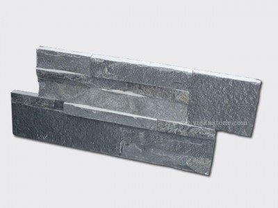 Scales grey slate culture stone wall panel 35x18cm 1