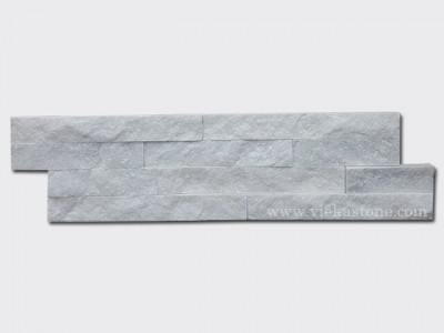 Snow White Quartz Stone Cladding Wall Panels z shape 1