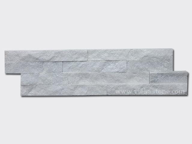 Snow White Quartz Stone Cladding Wall Panels z shape 1