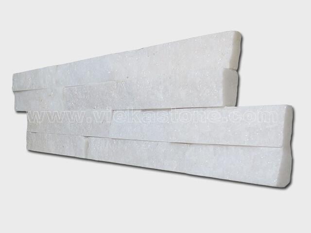 Snow White Quartz Stone Cladding Wall Panels z shape 2