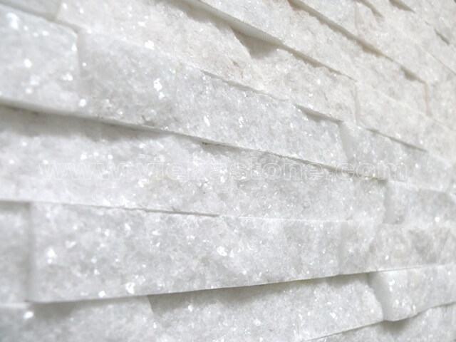 Snow White Quartz Stone Claddings Wall Panels Zp008