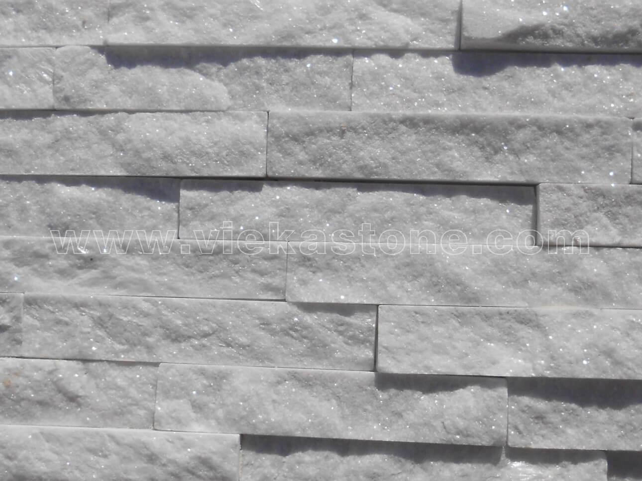 Snow White Quartz Stone Panel Wall Cladding RP007 - VIEKA ...  Whitestone Wall Tile