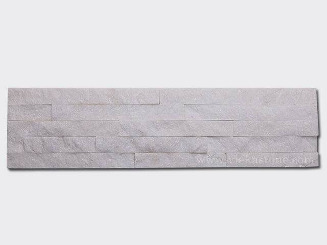 Snow White Quartz Stone Panels Wall Cladding Rectangle Shape 1