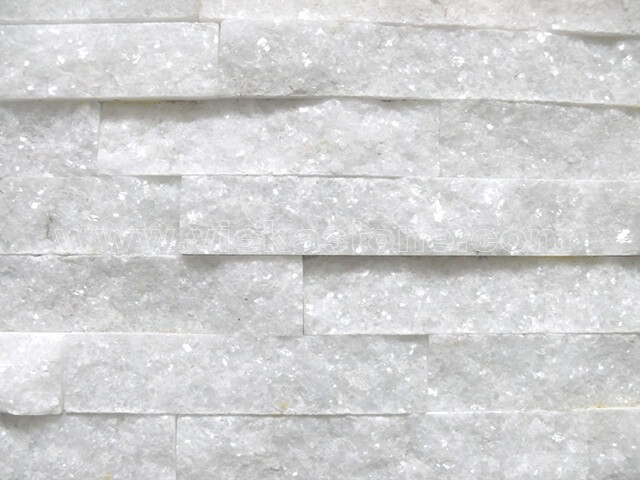 Snow White Quartz Stone Panels Wall Cladding Rectangle Shape 4
