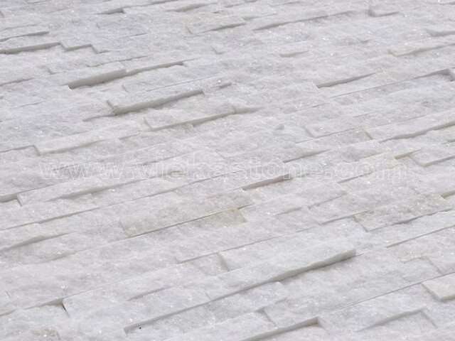 Snow White Quartz Stone Panels Wall Cladding Rectangle Shape 5