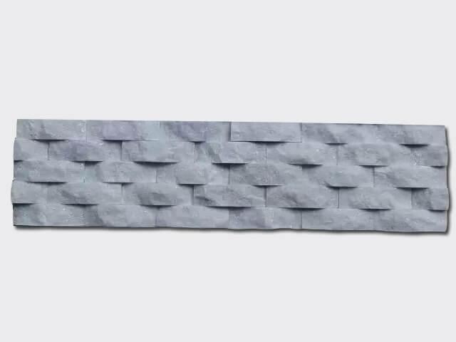 Snow White Quartz Stone Panels Wall Cladding Wave Rectangle Shape 1
