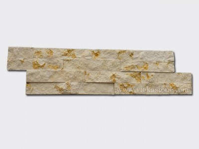 Sunny Beige Marble Stone Cladding Wall Panels z shape 1