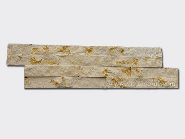 Sunny Beige Marble Stone Cladding Wall Panels z shape 1