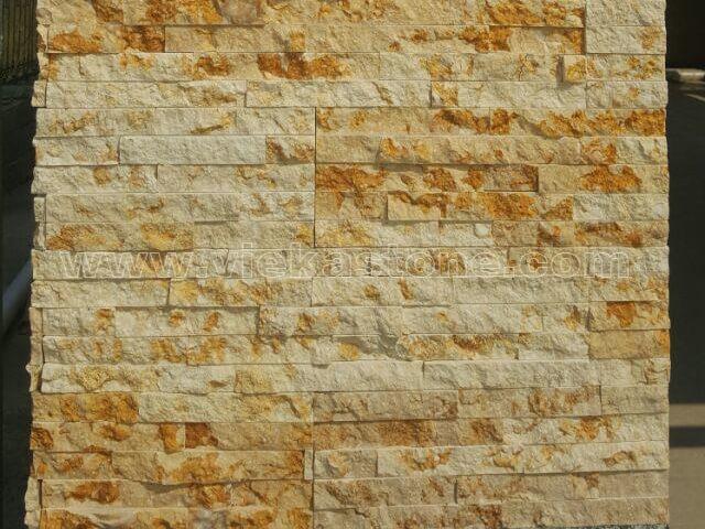 Sunny Beige Marble Stone Cladding Wall Panels z shape 2