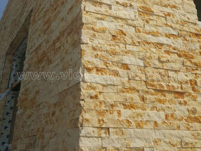 Sunny Beige Marble Stone Panel Wall Cladding RP019 - VIEKA - Natural ...