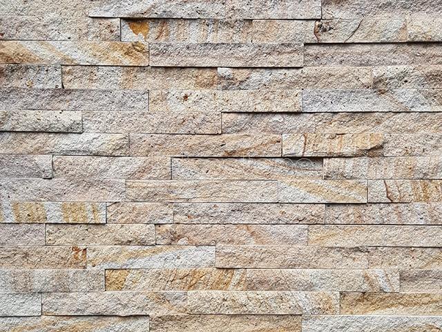 Wooden Sandstone Stone Panels Wall Cladding Rectangle Shape 3