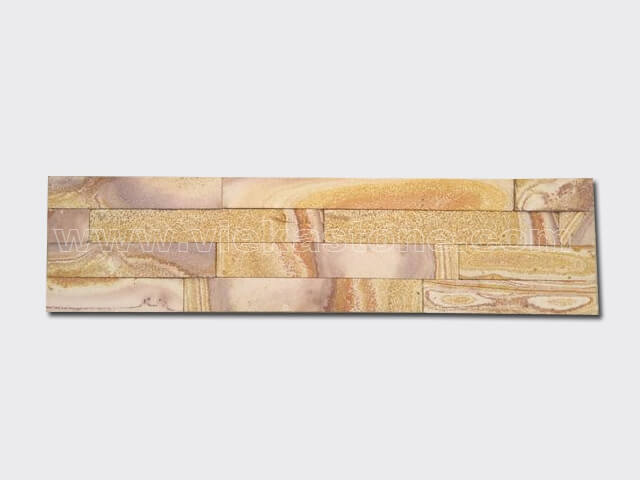 Yellow Sandstone Stone Panels Wall Cladding Cut Rectangle Shape 2