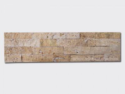 Yellow Travertine Stone Panels Wall Cladding Rectangle Shape 1