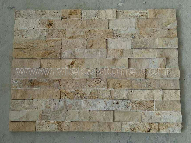 Yellow Travertine Stone Panels Wall Cladding Rectangle Shape 4