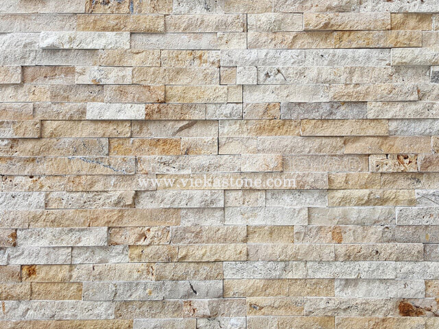 Yellow Travertine Stone Panels Wall Cladding Rectangle Shape 5