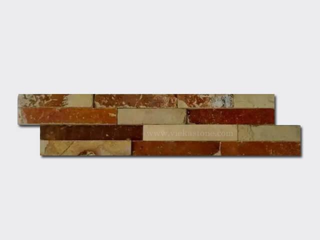 Yellow clay slate stone cladding wall panels Z shape 1