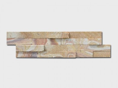 Yellow sandstone stone cladding wall panels Z shape