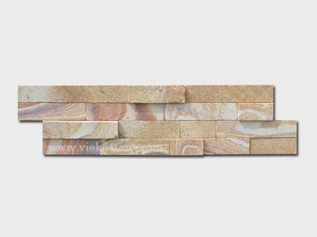 Yellow sandstone stone cladding wall panels Z shape