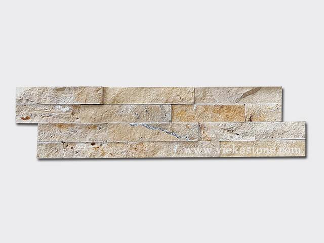 Yellow travertine stone cladding wall panels Z shape 1