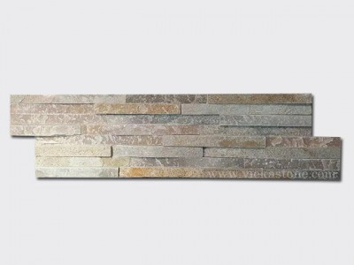 beige slate stone cladding wall panels 8 line Z shape 1